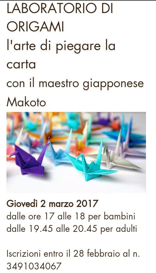 Lezione di Origami a Bologna