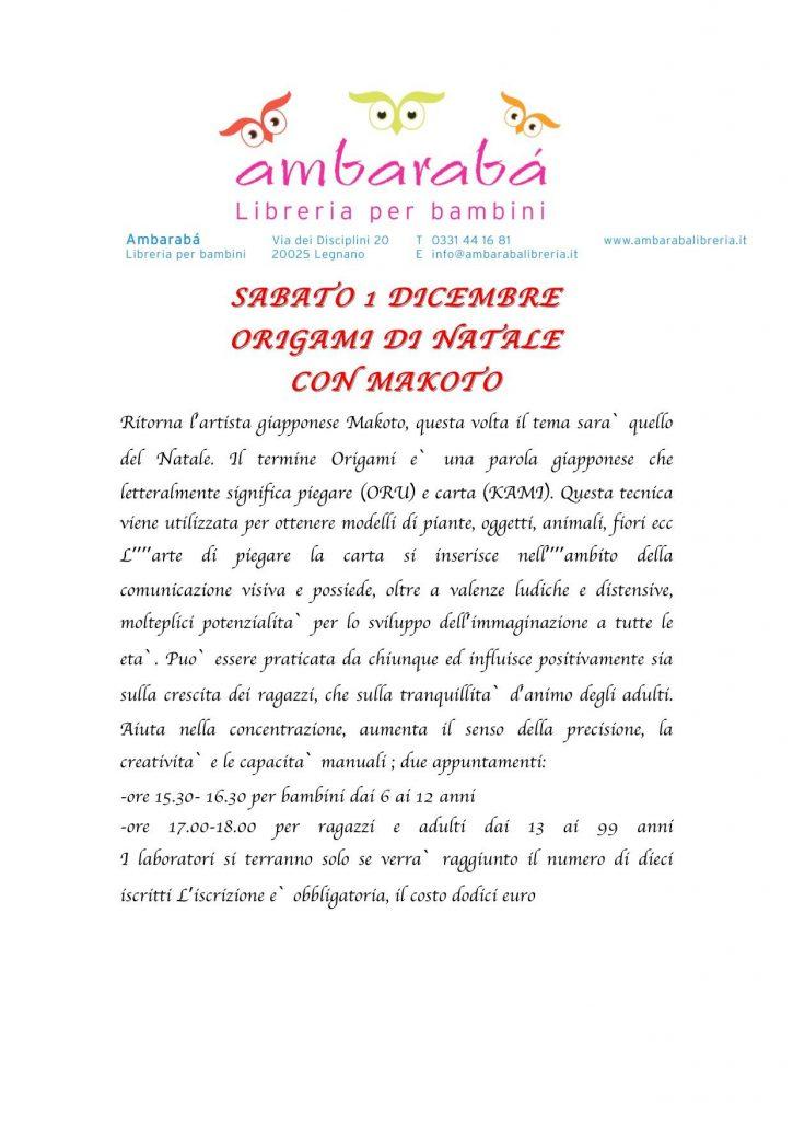 Lezione di Origami a Legnano 01-12-2018