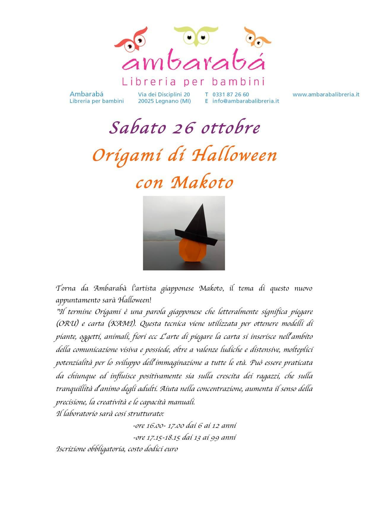 Origami di Halloween con Makoto